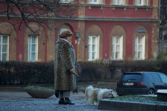 The Lady with the Dog. Warsaw.